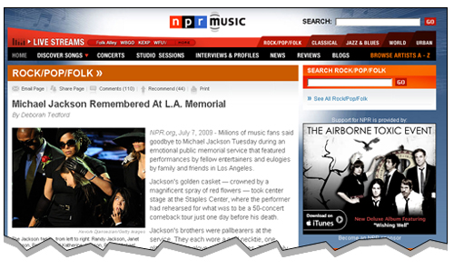 NPR page screen capture.